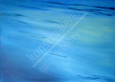 Ölmalerei mit abstraktem Himmel oder Wasser