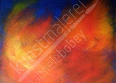 Kontrastreiche Farben erwachen zu Strukturen aus Acrylfarbe