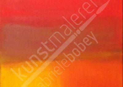 Weiche Strukturen mit Acrylfarben in Orange und Gelb