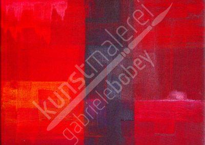 Acrylmalerei mit abstrakten Strukturen in Rot
