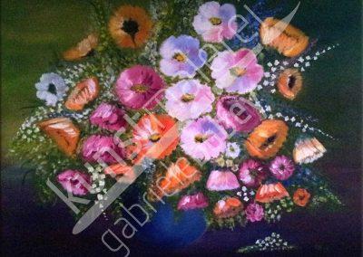 Klassisch mit Blumen als Ölbild
