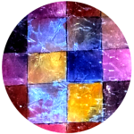 Farbenfrohe Strukturen in Acryl