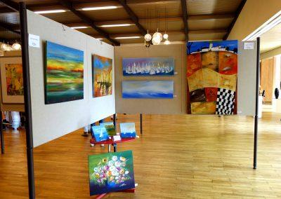 Eine Ausstellung über Acrylmalerei und Ölmalerei im Bürgerhaus in Bovenden 2017