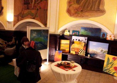 Weihnachtsausstellung mit Kunstarbeiten und Leinwandbildern im Rathaus Hann.Münden vom Kunstnetz e.V.