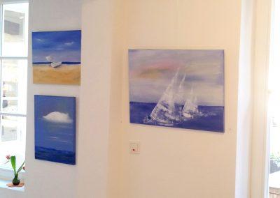 Ausstellung mit maritimen Acrylbildern von Kunstmalerei Bobey vom Kunstnetz in Hann.Münden