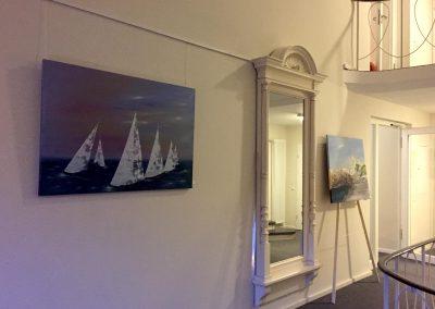 Segelboote in Öl- und Acryl Ausstellung Letzter Heller Hann.Münden