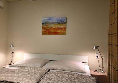 Acrylbild Landschaften im Doppelzimmer im Hotel Schlafschön