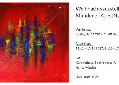 Weihnachtsausstellung 2017 Mündender KunstNetz