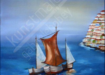 Boote vor der Küste
