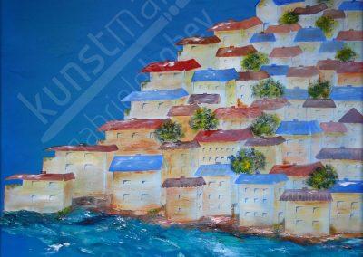 Mediterraner Ort an der Küste