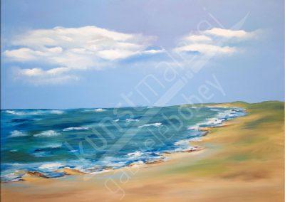 Modernes Ölbild mit Blick auf die Küste der Ostsee