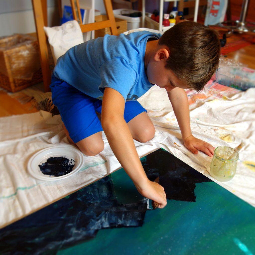 Kunstmalerei Bobey Malschule für abstrakte Acrylmalerei