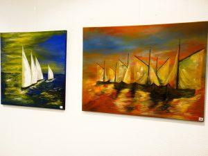 Zwei maritime Kunstwerke von Gabriele Bobey