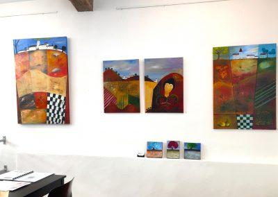 Kunstausstellung Münden Atelier abstrakte Malerei Landschaften Gabriele Bobey