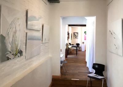 Kunstausstellung Münden Atelier abstrakte Malerei Landschaften Gabriele Bobey Speckstrasse