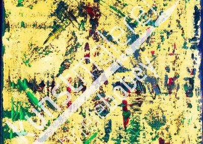 Ein abstraktes gelbes Acryl-Ölbild