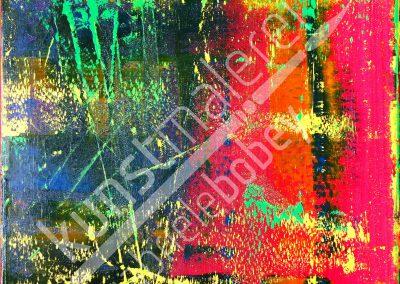 Ein abstraktes Farbspiel der Gegensätze