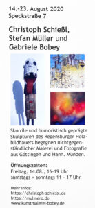 Flyer Kunstausstellung Gabriele Bobey Ölmalerei Acrylmalerei
