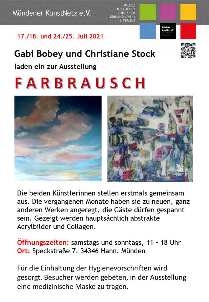 Ausstellung abstrakter Acrylmalerei